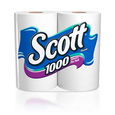 Scott 1000 sheet count toilet paper.