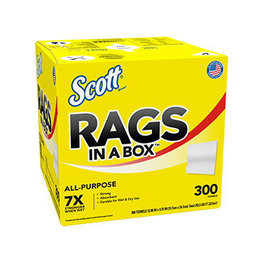 Scott all purpose rags in a box.