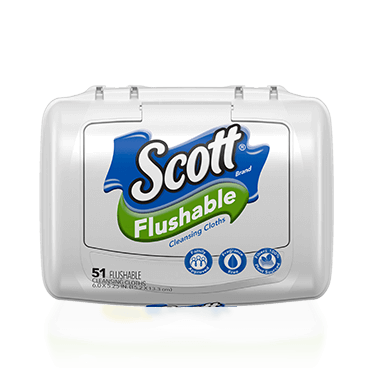 Scott Flushable Wipes Image.