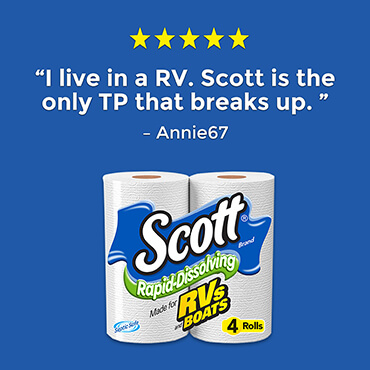 Scott® Rapid Dissolving Toilet Paper Is Made For RVs and Boats.