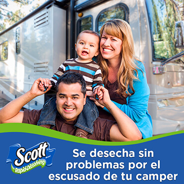 Scott® Rapid Dissolve Flushes with Ease in You RV.
